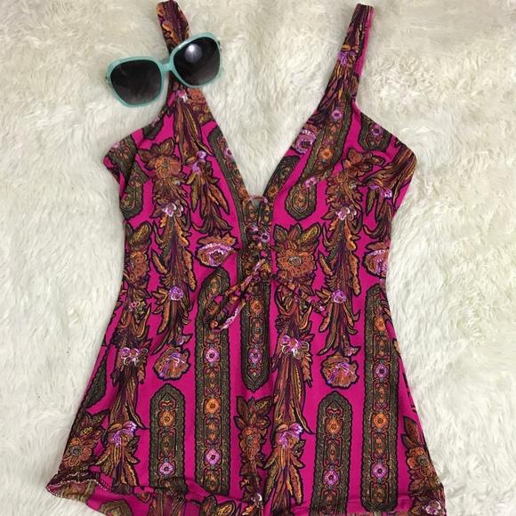 6e3e85e7dee19 vintage Swim   60s Psychedelic Paisley Floral Suit   Poshmark